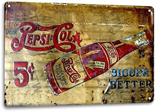 SRongmao - Cartel de Metal con diseño de Pepsi Cola de 5 ...