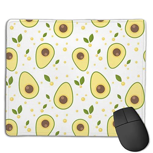 Avocado Cartoon Yellow Printing Gaming Mouse Pad Custom Comfortable Regular Compurter Mouse Mat -