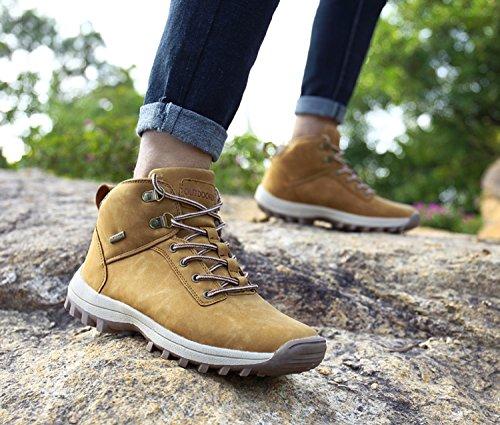 Hombre Deportes Botas Zapatos Walking Impermeables 39 Trekking Amarillo Invierno Senderismo Marrón Outdoor Piel Forro 46 Sneakers Zapatillas Nieve Montaña De Negro vvwxBq8r