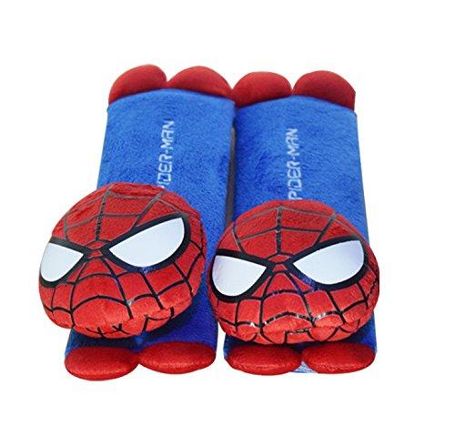 CJB Spiderman Plush Seat Belt Cover Shoulder Pad Cushion (US Seller) (Frozen Seat Belt Shoulder Pads compare prices)