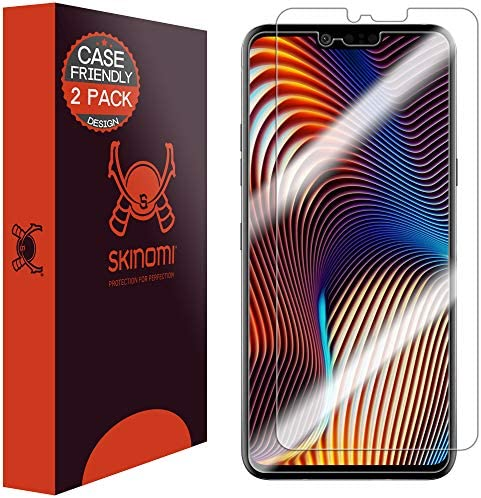 Skinomi Brushed Aluminum Full Body Skin Compatible with LG G8X ThinQ TechSkin with Anti-Bubble Clear Film Screen Protector Full Coverage