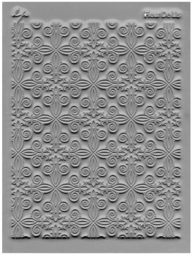 JHB International Inc Lisa Pavelka 527044 Texture Stamp Fleur de Lis by JHB International Inc