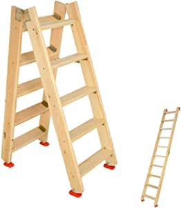 PENGFEI Escalera Plegable Taburete Madera Maciza Multifuncional Escalera De Espiga Ático, Bajo Techo, En Exteriores, 8 Tallas (Size : Full Length 1m): Amazon.es: Electrónica