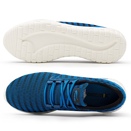 Bleu Chaussures Chaussures Léger Occasionnels Course Hommes De Sport Onemix Formateurs Respirant De Sport De HwqfAxaC