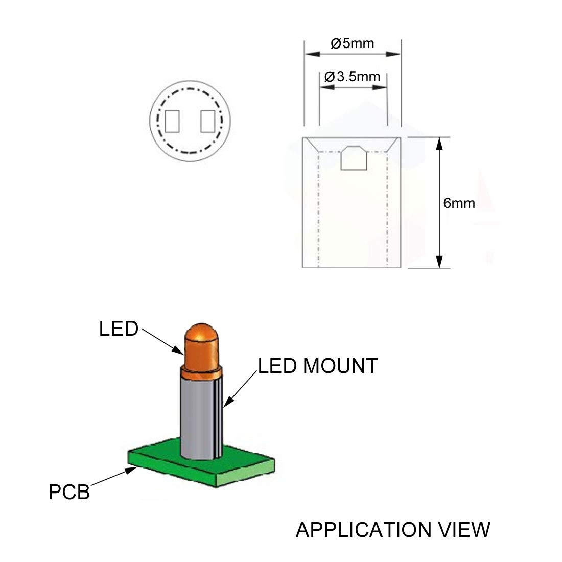 sourcing map 240Stk.3.5x5x3mm Nylon gerade isolierend Rohr PCB LED Basis Abstandshalter de