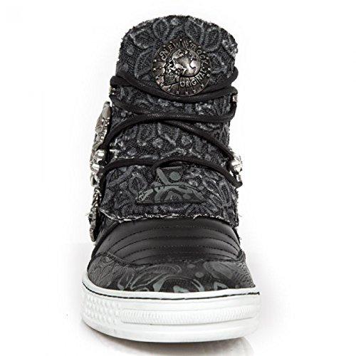New Rock Boots M.ps050-s1 Gotico Hardrock Punk Unisex Sportschuhe Schwarz