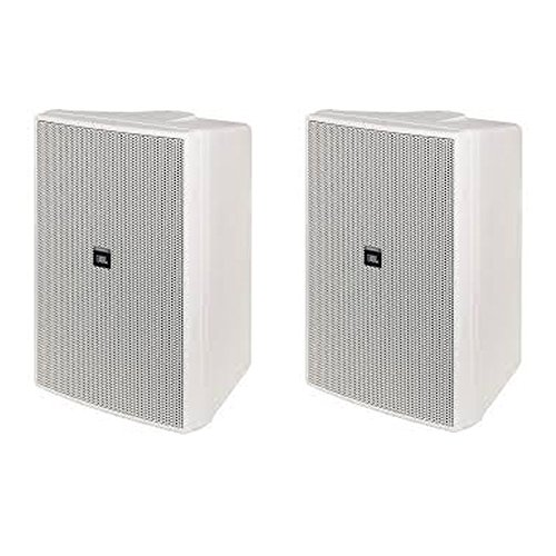 2 Way Compact Shielded Speakers (JBL CONTROL 25AV-WH Compact Indoor/Outdoor Background/Foreground 5.25