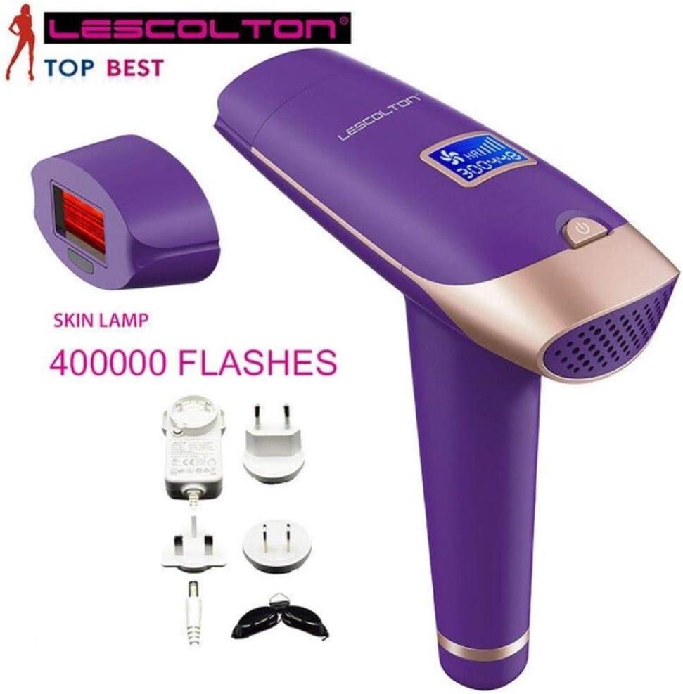 HKRT Depiladora de luz pulsada IPL Depiladora láser Dispositivo de depilación Permanente sin Dolor, 1000000 Veces ...