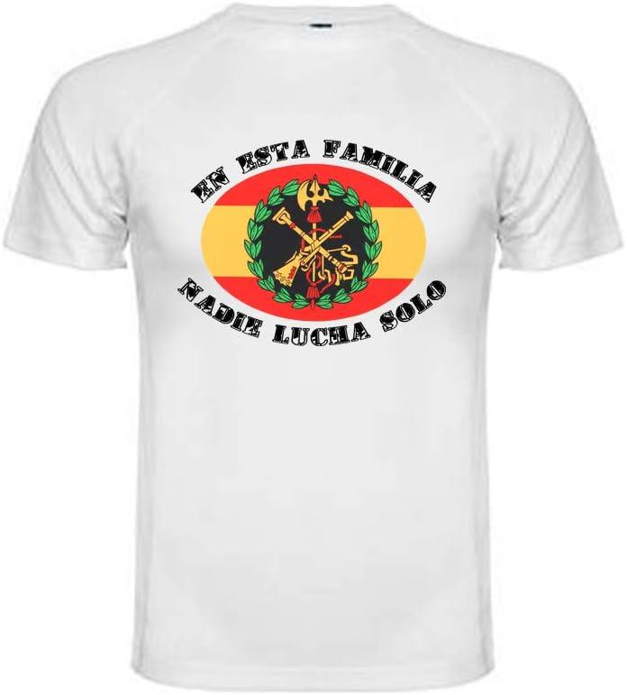 Camiseta Técnica Legión Española. En Esta Familia Nadie Lucha Solo 100% Poliester.: Amazon.es: Deportes y aire libre