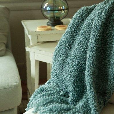 Camelot Decorative Acrylic / Polyester Throw Color: Indigo (Blanket Kennebunk Polyester)