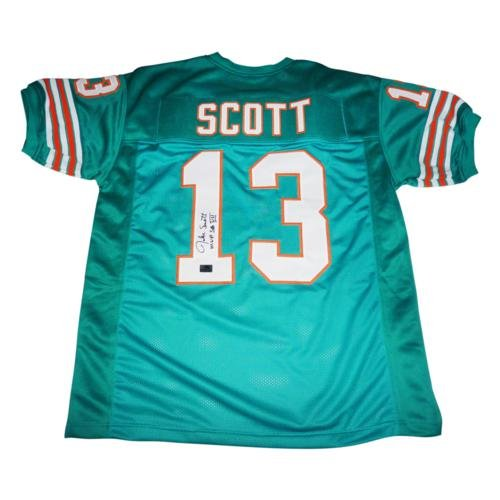 - Jake Scott Autographed Miami Dolphins (Teal #13) Custom Jersey w/