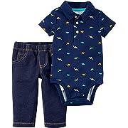 Carter's Baby Boys' 2 Piece Dino Bodysuit & Pants Set Newborn