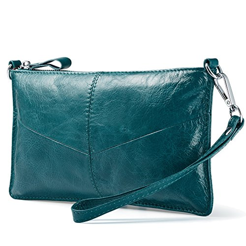 Wax Women for Leather Phone Clutch Slots Green Card with Wallets Crossbody Leather Lecxci Purses Pdqwxvvz