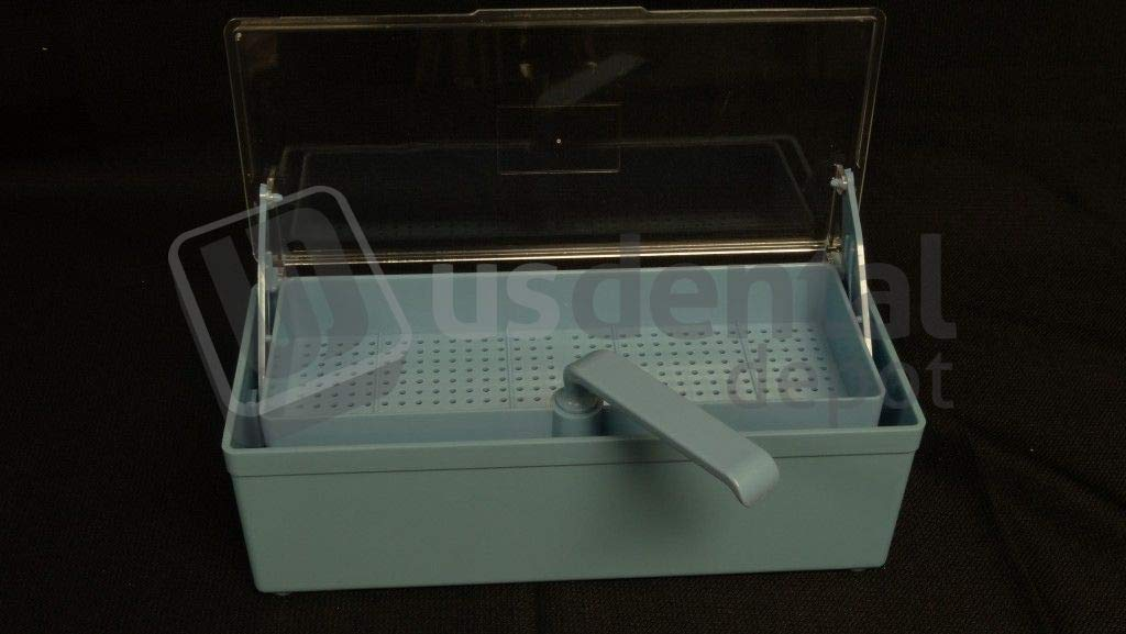 PLASDENT - Germicide Tray Blue with Clear Lid