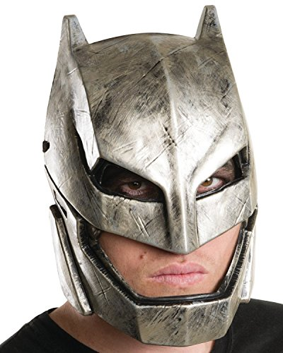 Batman Zombie Mask (Armored Batman Mask,Silver,Onesize)