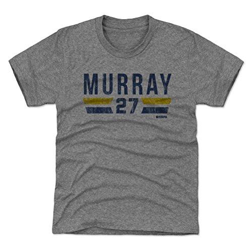500 LEVEL Denver Basketball Youth Shirt - Kids X-Large (14-16Y) Tri Gray - Jamal Murray Denver Font B ()