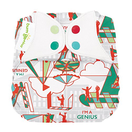 - Limited Edition: bumGenius Elemental 3.0 All-in-One One-Size Cloth Diaper with Organic Cotton (Play)