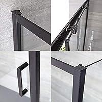 Hudson Reed Nox Box Ducha con Puerta corredera con Perfil en Negro, Pared y Plato de Ducha – 1500 x 900 mm: Amazon.es: Hogar