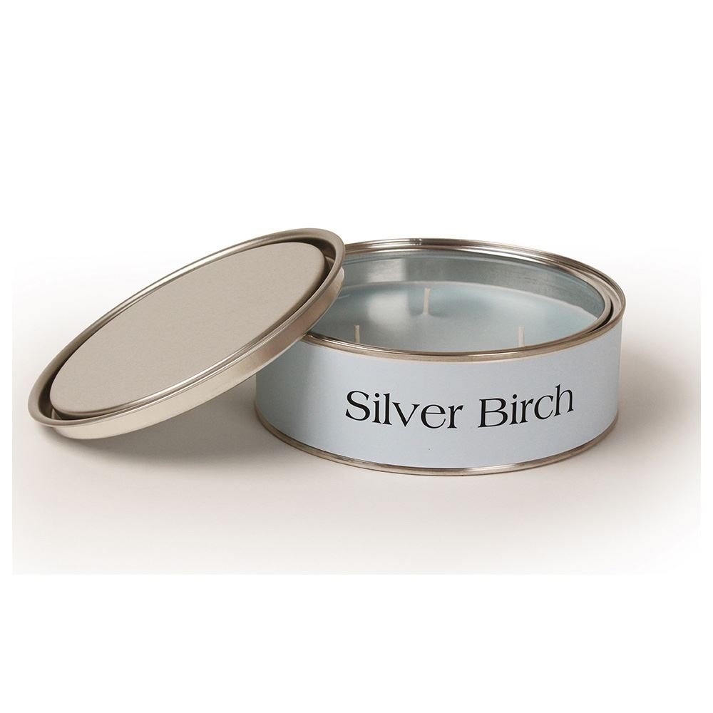 Pintail Candles Large 3 Wick Scented Candle Tin - Silver Birch
