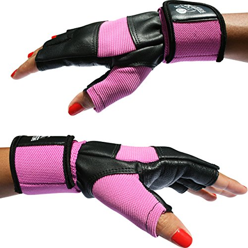 "Weight Lifting Gloves with 12"" Wrist Support for Gym Workout, Weightlifting, Fitness & Cross Training - The Best for Men & Women - by Nordic LiftingTM - (Pink, Small) - 1 Year Warranty"
