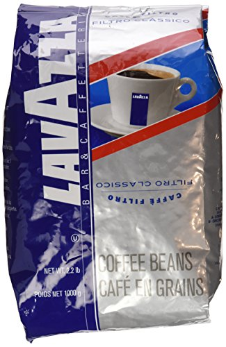 Lavazza Cafe Filtro Classico - Whole Bean Coffee, 2.2-Pound Bags (Pack of 2)
