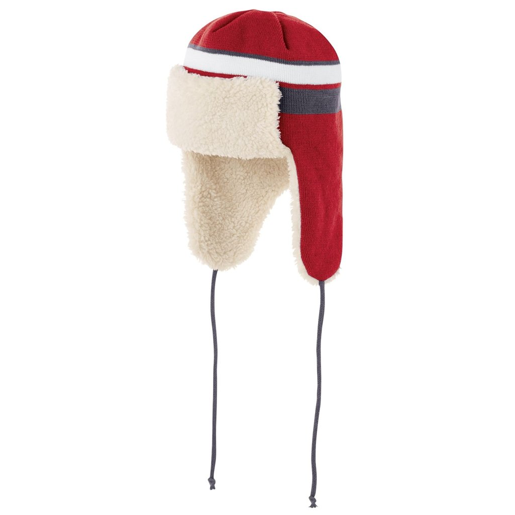 Holloway Comeback Trapper Beanie (One Size Fits Most, Scarlet/White/Graphite) by Holloway