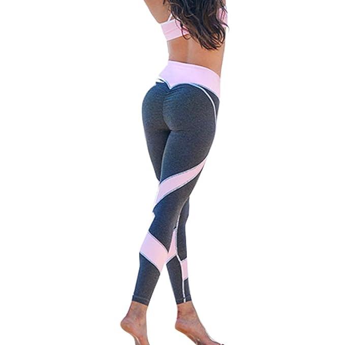 JNCH Mujer Leggins Pantalones Deportivos Elásticos Estampados Malla  Leggings Deporte para Running Fitness Yoga  Amazon.es  Ropa y accesorios 740640f7c90ed