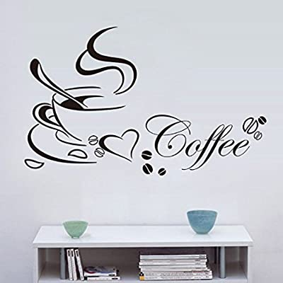 Iuhan® Fashion Removable Kitchen Decor Coffee Cup Home Decals Vinyl Art Wall Sticker