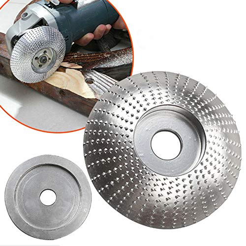 Grinder Shaping Disc, Wood Tungsten Carbide Grinding Wheel Sanding Carving Tool Abrasive Disc for Angle Grinder