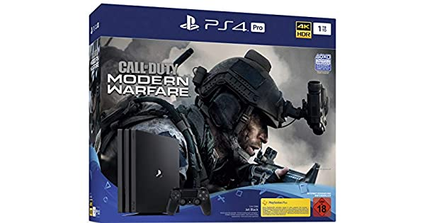 PlayStation 4 Pro - Konsole inkl. Call of Duty - Modern Warfare ...