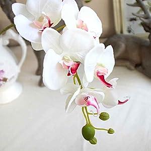 Silk Artificial Phalaenopsis Orchid Flower Stem Bouquet Party Home Garden Decor 95