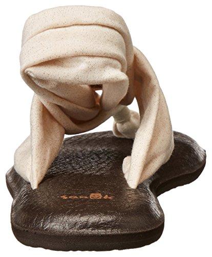 Sanuk Womens Yoga Sling 2 Metallic Flip Flop Roségoud