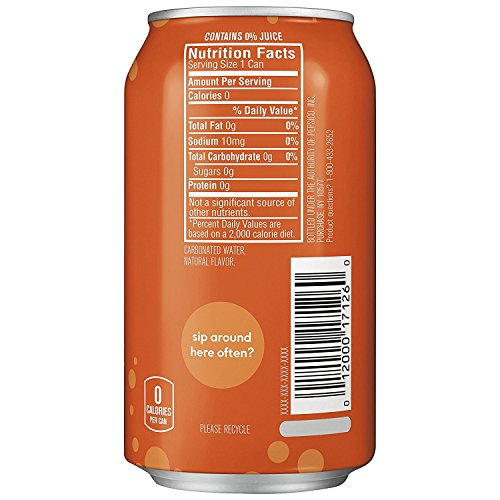 Large Product Image of bubly Sparkling Water, Orange, 12 ounce Cans (Pack of 8)