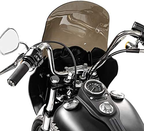 light smoke Craftride Fairing MG5 for Harley Dyna Low Rider S 16-17 black