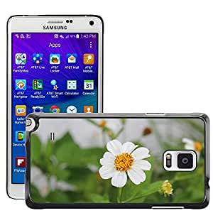 Hot Style Cell Phone PC Hard Case Cover // M00308513 Flower White Nature Plant Floral // Samsung Galaxy Note 4 IV