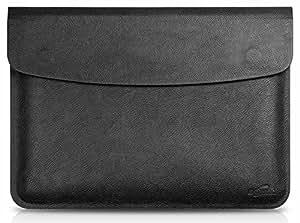 Generic piel sintética portátil manga bolsa bolsa para Apple MacBook Air de 11,6, color negro