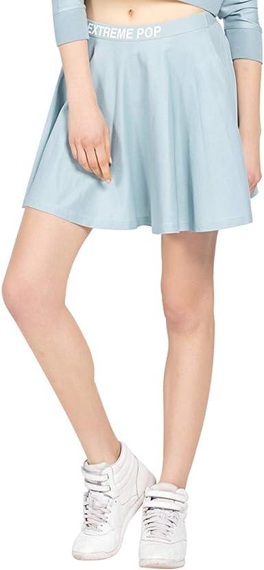 Extreme Pop Mujer Faldas Cortas Vestido de Cintura elástica Falda ...