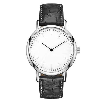 51b81bf08d7a PZXY Reloj de Cuarzo Reloj Simple de Moda para Hombre y Mujer. Reloj  Impermeable con Dos Agujas. Reloj Impermeable.  Amazon.es  Hogar