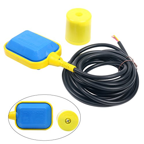 YaeTek Float Switch with 4M 13 ft Cable Water Level Controller for Septic System, Sump Pump, Water Tank by YaeTek