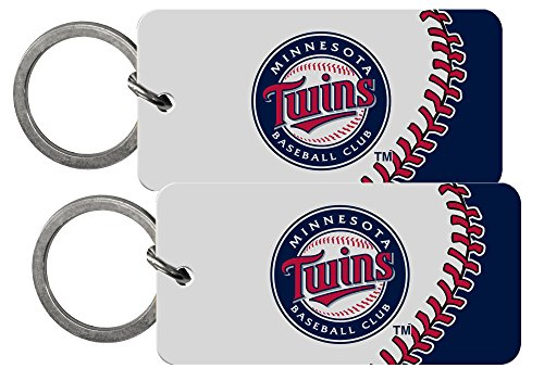 Minnesota Twins MLB 2 inch Crystal View Key Chain Keychain (Set of 2)