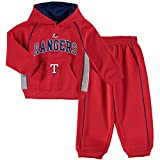 "Texas Rangers Toddler Red Grey""Lil Fan"" Fleece Hoodie and Pants Set"