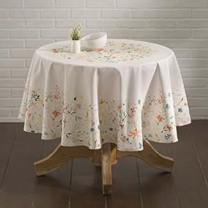 Amazon.com: Maison d' Hermine Colmar 100% Cotton Tablecloth 63 Inch