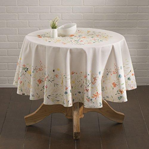 French Linen Design (Maison d' Hermine Colmar 100% Cotton Tablecloth 63 Inch Round)