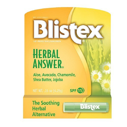 Blistex Herbal Answer Lip Balm Spf 15 .15oz (Pack of 6) ()