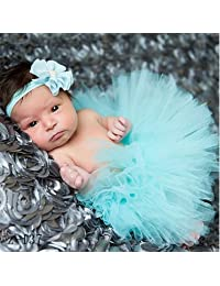 Newborn Toddler Baby Girl Tutu Skirt & Headband Photo Costume Outfit