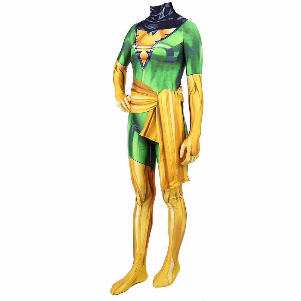 Kids Medium BLOIBFS Superheld X-Men Dark Phoenix Kostüm,Halloween Kinder Frau Bodysuit Film Kostüm Requisiten,Kids-M