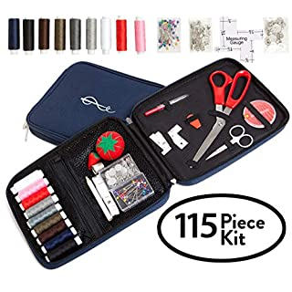 Best Professional Sewing Kit + Free Bonus EBOOK - Space Efficient Sewing Basket Alternative Offers 100 Premium Sewing Accessories