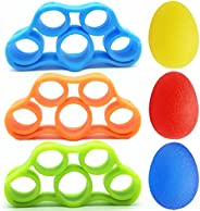 Hand Grip Strengthener Balls Stretcher, Finger Exerciser Stress Relief Balls, Grip Strength Trainer(6 PCS),For