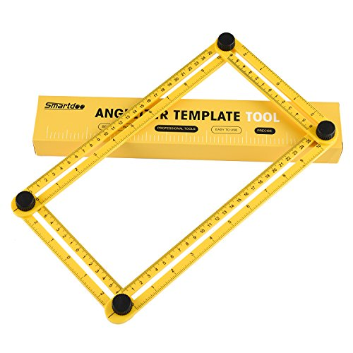 Angle Ruler, Angle Measurement Tool,Smartdoo Angle-izer Template Tool Multi-Angle Measuring Ruler General Tools for Carpenter