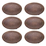 "Hosley's Set of 6 Copper Color Pillar Candle Plates - 4"" Diameter. Ideal Gift for Wedding, Party, Spa, Coaster, Pedestal Stand, LED Candle W1"